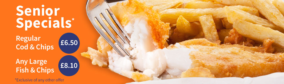 Catch Fish and Chips - Senior Specials meal deals