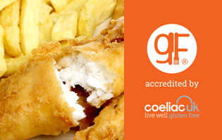 Catch is Gluten Free accredited by Coeliac UK